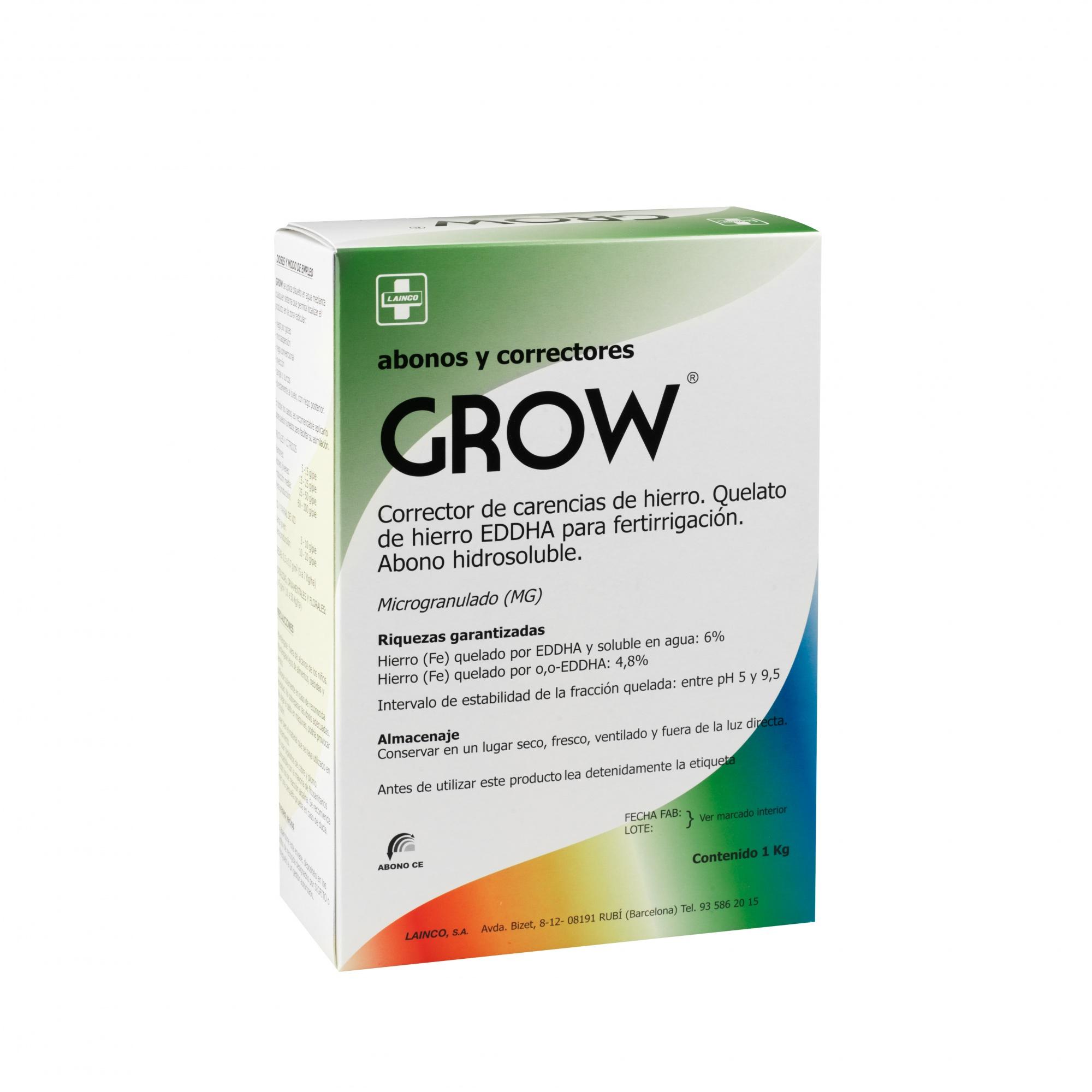 GROW quelato de hierro contra la clorosis férrica 1 kg