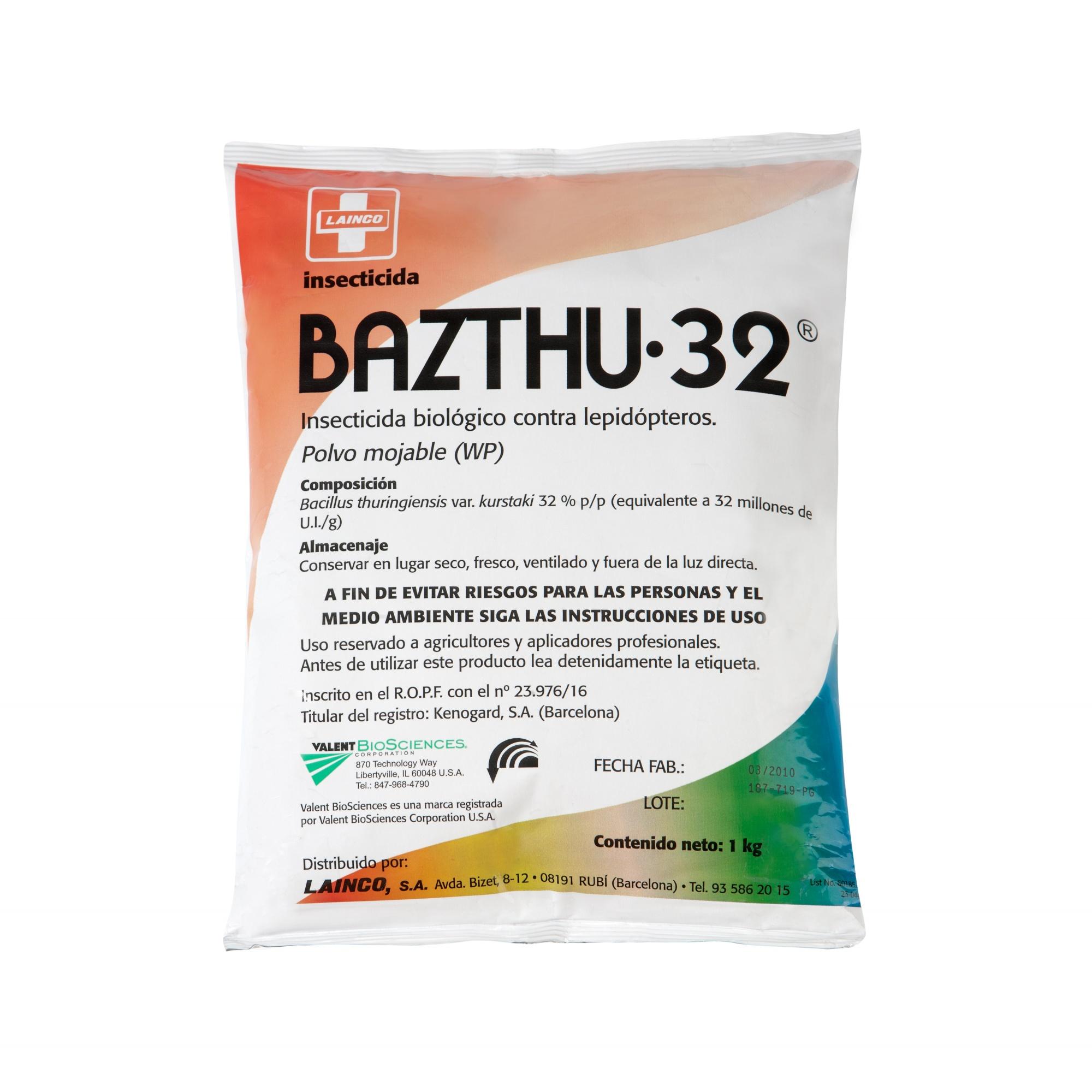 Bazthu 32 Bacillus thuringiensis  insecticida ecológico contra orugas