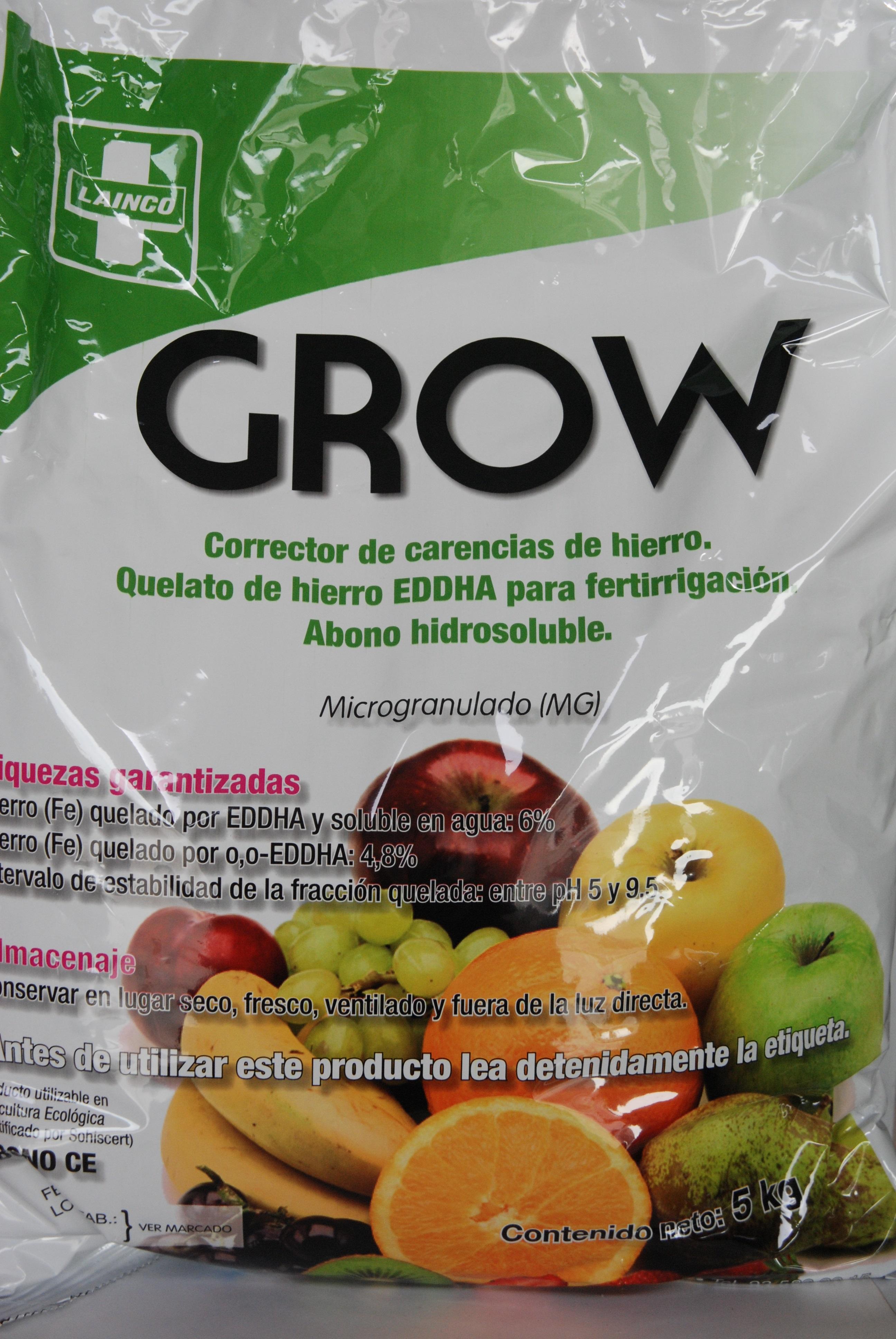 GROW quelato de hierro contra la clorosis férrica 5 kg